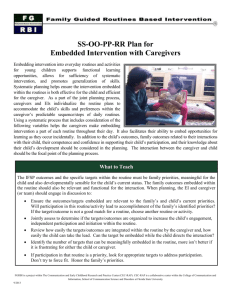 SS-OO-PP-RR Plan for Embedded Intervention with Caregivers