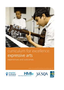 Expressive arts: Experiences and outcomes
