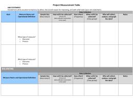 (16)Blank Project Measurement Table