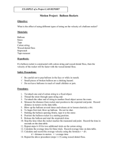 Example-Formal Lab Report (Balloon Rocket)