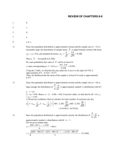 Review Ch 8 to 9 Solutions