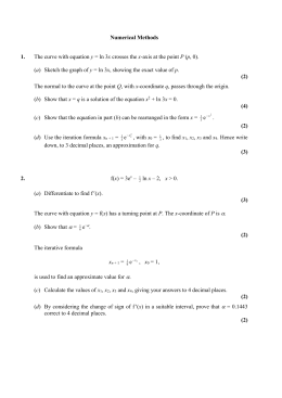 Numerical Methods Answers