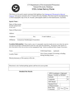 Reporting Form  - Connecticut Ornithological Association