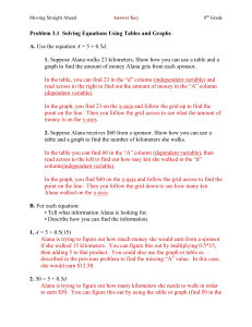 Moving Straight Ahead Answer Key 8th Grade Problem 3.1 Solving