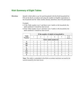 Kish Summary of Eight Tables