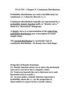 STAT 515 -- Chapter 6: Continuous Distributions