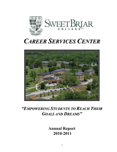 Career Services Annual Report - 2010
