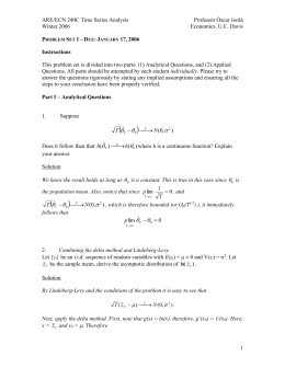 PROBLEM SET 1 – DUE: JANUARY 22