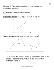 Chapter 6: Multiple Regression I