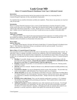 Botox ®/Dysport® Consent Form - OB/GYN Associates of Southern