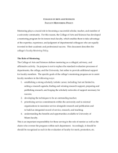 Faculty Mentoring Policy - College of Arts and Sciences