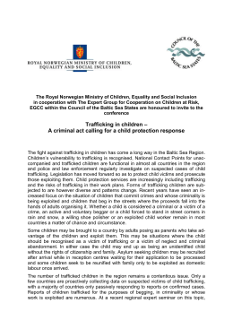 To Mr - Child Centre for Children at Risk in the Baltic Sea Region