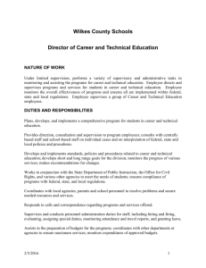 Director of Career and Technical Education