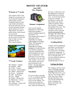 7th Grade English Newsletter