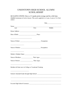 uniontown high school alumni scholarship