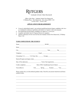 Re-Admission Form Link