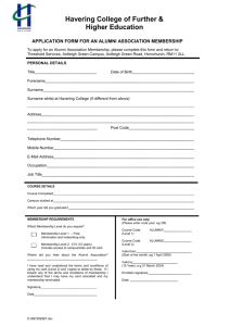 application form for an alumni association
