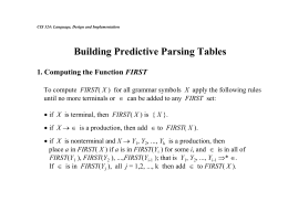 Computing the First and Follow Functions