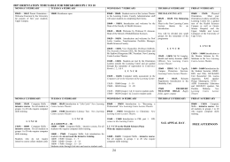 2007 ORIENTATION TIMETABLE FOR MBChB GROUPS 1 TO 10