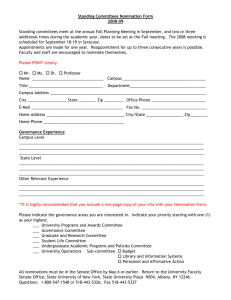 Standing Committees Nomination Form