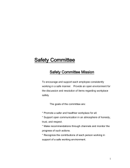Safety Committe By-laws