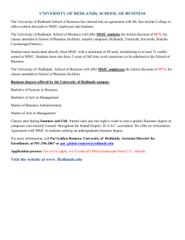 University of Redlands - Education Agreement Info