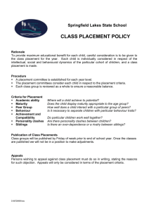 Class Placement Policy - Springfield Lakes State School