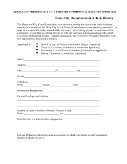 application for city of boise committees, commission and boards