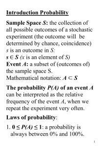 L1: Lecture notes: intro, combinatorics and conditional probability