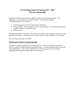 UALR Department of Nursing Private Scholarships WalkerOnly