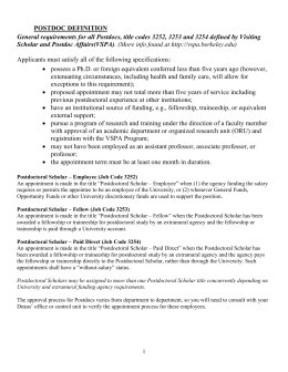 Post-Docs - Human Resources at UC Berkeley