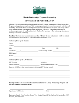 Liberty Partnership Program Scholarship