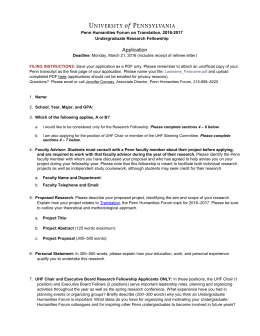 application - Penn Humanities Forum