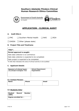Clinical audit application