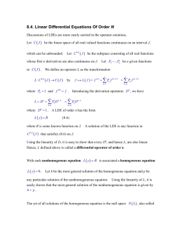8.4. Linear Differential Equations Of Order N