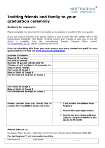 complete a form - Nottingham Trent University