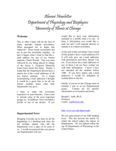 Alumni Newsletter - UIC Department of Physiology & Biophysics