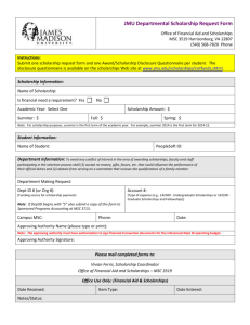 Departmental Scholarship Request Form