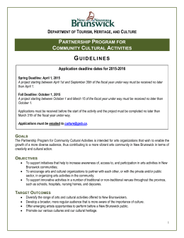Guidelines - Government of New Brunswick