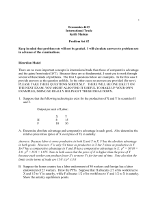 Problem Set Two - University of Colorado Boulder