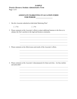 Associate Marketing Evaluation Form