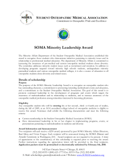Student Osteopathic Medical Association Commitment to