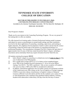 Supplemental Application - Tennessee State University
