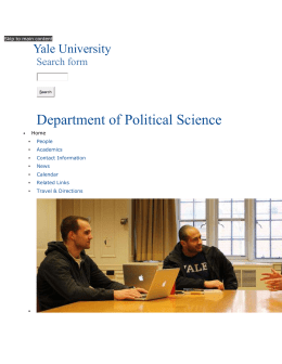 Introduction | Department of Political Science