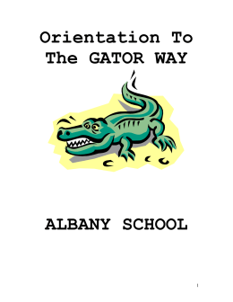 Orientation To The GATOR WAY