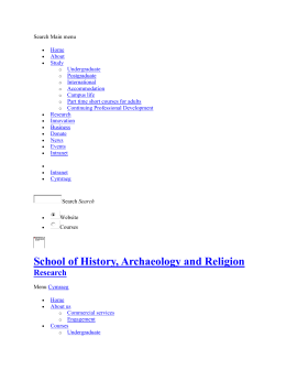 Research - School of History, Archaeology and