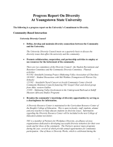 Community-Based Interaction - Youngstown State University