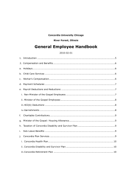 3. General Policies - Concordia University Chicago