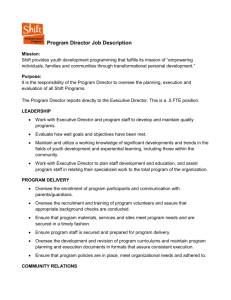 Program Director Job Description