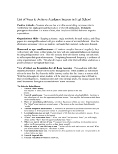 List of Ways to Achieve Academic Success in High School